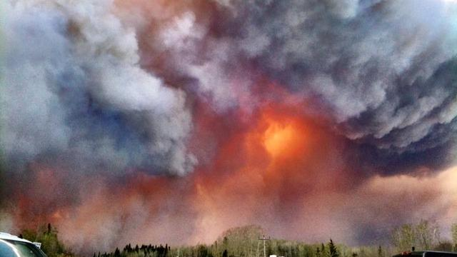 Fire in Slave Lake