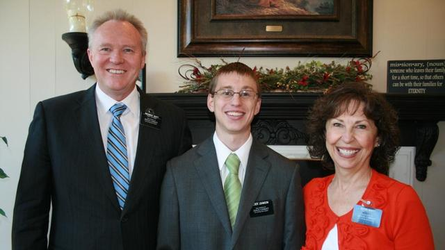 President & Sister Scott with Elder Tyler Johnson
