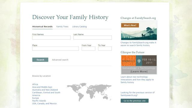 family history screenshot