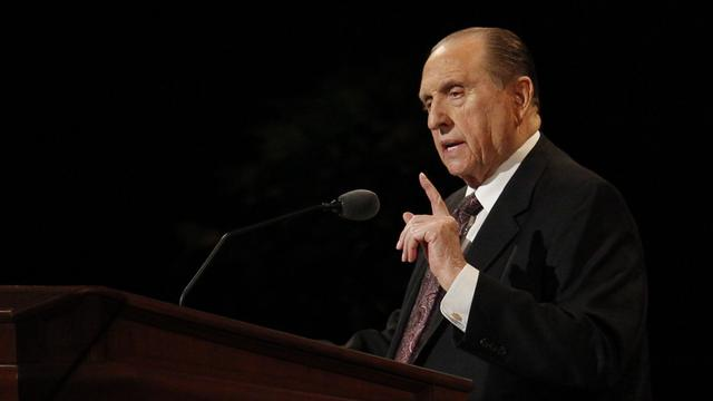 President Monson at Conference