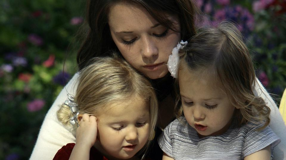 Mother and Daughters at General Conference