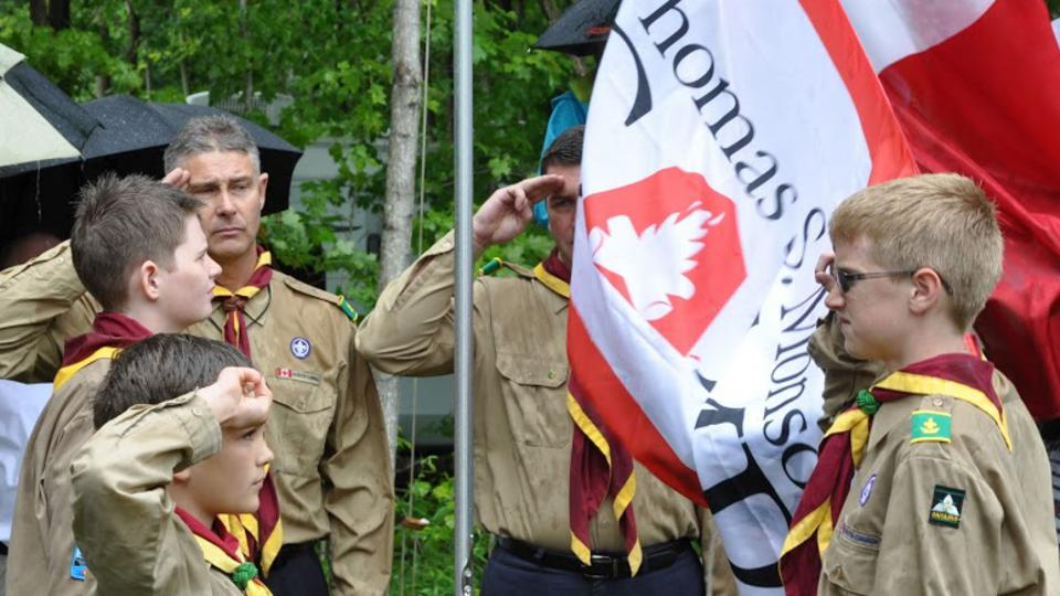 Scouts at dedication of Thomas S. Monson Camp