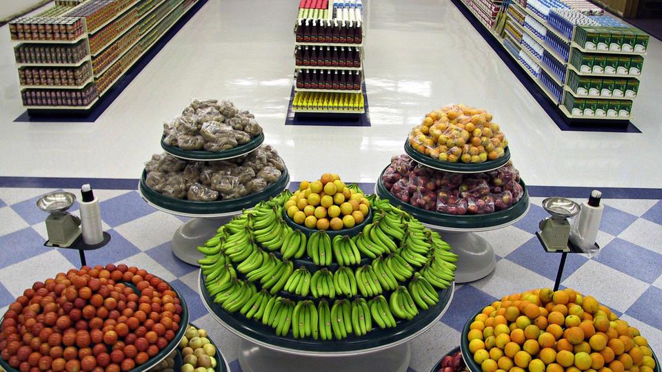 Welfare Storehouse Fruit Display