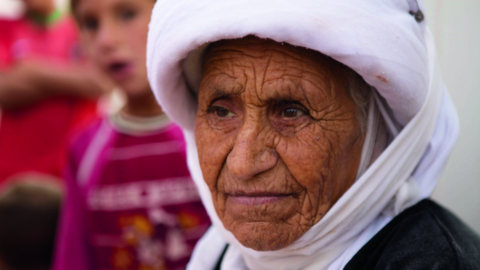 Refugee Old Woman